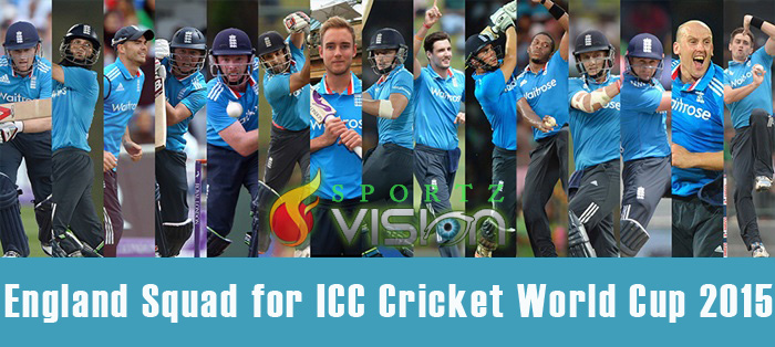 England Team 15 Man Squad For Icc Cricket World Cup 2015